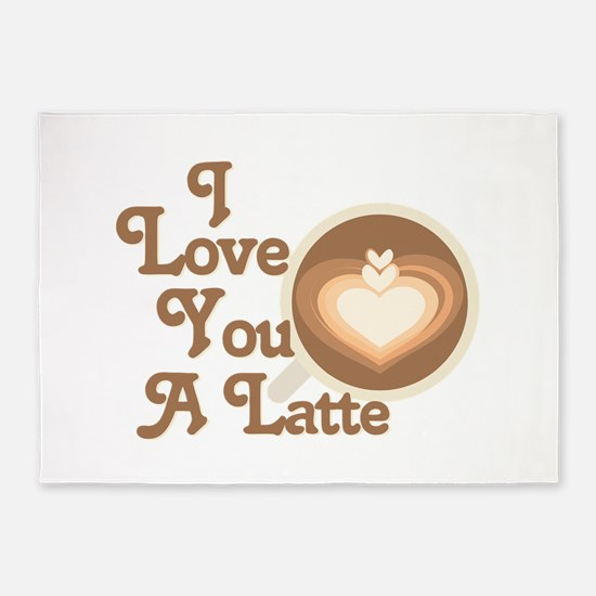 Love You Latte 5'x7'Area Rug