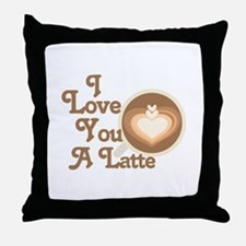 Love You Latte Throw Pillow