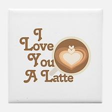 Love You Latte Tile Coaster