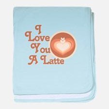 Love You Latte baby blanket
