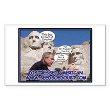 Mt. Rushmore Douche Rectangle Decal