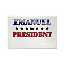 EMANUEL for president Rectangle Magnet
