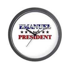 EMANUEL for president Wall Clock
