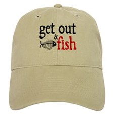 Get Out & Fish Baseball Cap