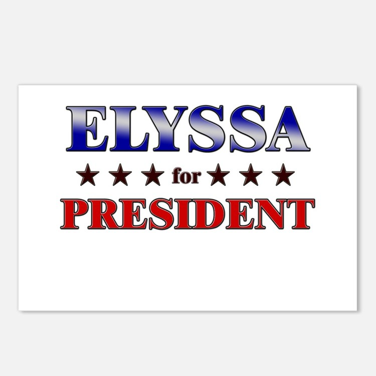 ELYSSA for president Postcards (Package of 8)