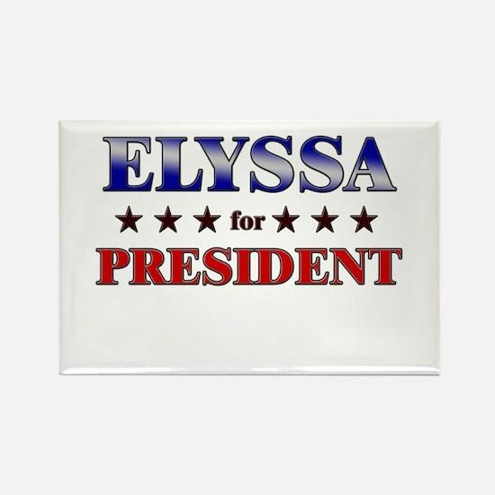 ELYSSA for president Rectangle Magnet