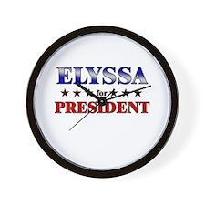 ELYSSA for president Wall Clock
