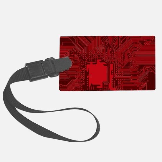Red Geek Motherboard Circuit Pat Luggage Tag