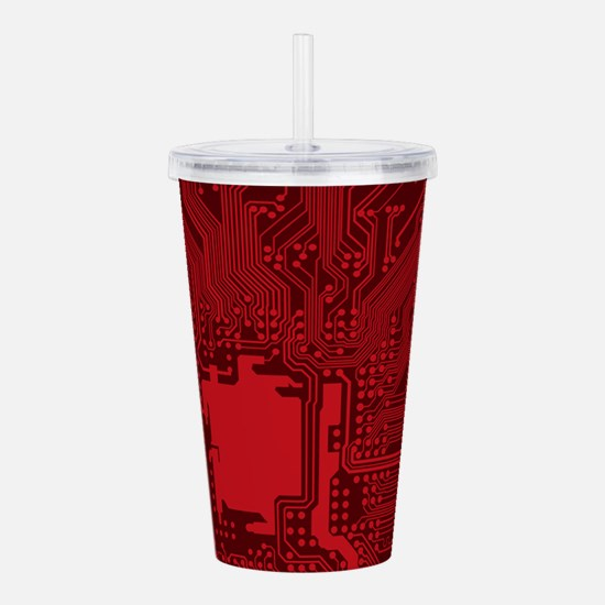 Red Geek Motherboard C Acrylic Double-wall Tumbler