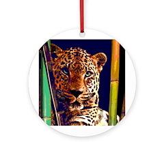 Leopard Ornament (Round)