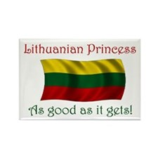 Lithuanian Princess Rectangle Magnet