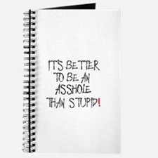 IT'S BETTER TO BE AN ASSHOLE THAN STUPID! Journal