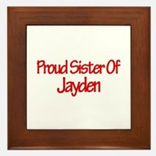 Proud Sister of Jayden Framed Tile