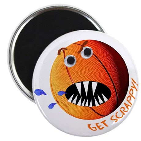 Scrappy Basketball Magnet
