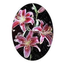 Stargazer Lily Oval Ornament