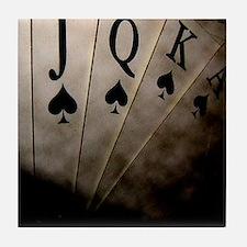 Poker Ace Cards Tile Coaster