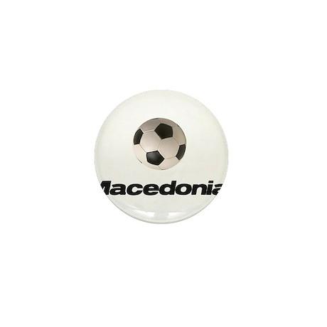 Macedonia Soccer Mini Button