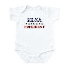 ELSA for president Infant Bodysuit