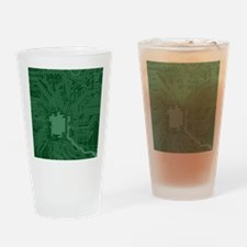 Green Geek Motherboard Circuit Patt Drinking Glass