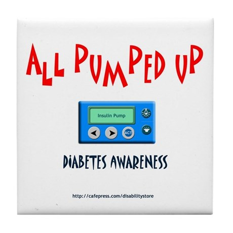 All Pumped Up Tile Coaster