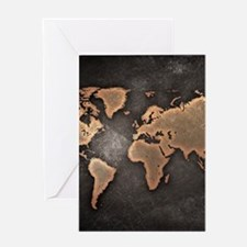 World Map Greeting Cards