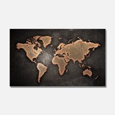 World Map Car Magnet 20 x 12
