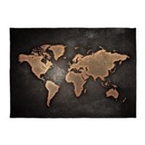 Earth globe 5x7 Rugs