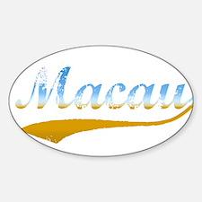 Beach Macau Oval Decal