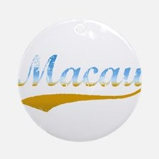 Beach Macau Ornament (Round)