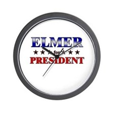 ELMER for president Wall Clock