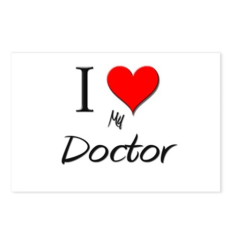 I Love My Doctor Postcards (Package of 8)