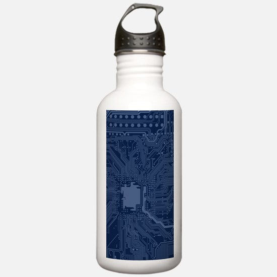 Blue Geek Motherboard Water Bottle