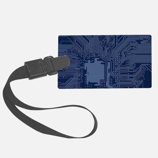 Blue Geek Motherboard Circuit Pa Luggage Tag