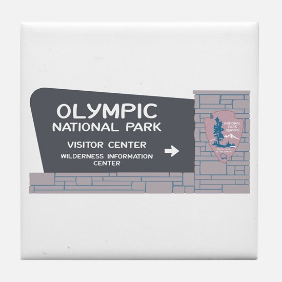 Olympic National Park, Washington Tile Coaster