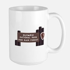 Hoh Rainforest-Olympic National Park, W Large Mug