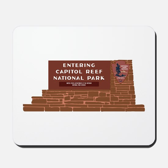 """Entering Capitol Reef National Park"", U Mousepad"
