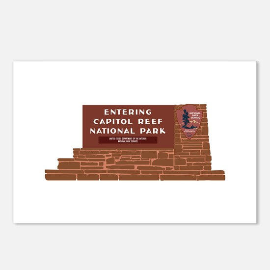 """Entering Capitol Reef Na Postcards (Package of 8)"