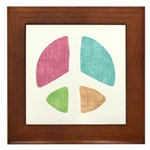 Stencil Peace Framed Tile