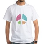 Stencil Peace White T-Shirt