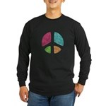 Stencil Peace Long Sleeve Dark T-Shirt