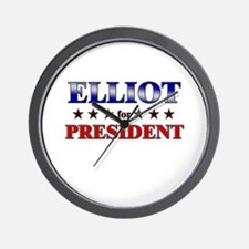 ELLIOT for president Wall Clock