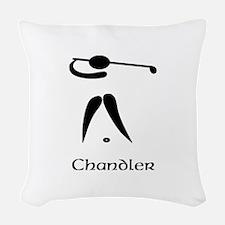 Team Golf Monogram Woven Throw Pillow