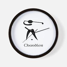 Team Golf Monogram Wall Clock