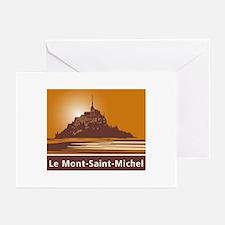 Mont Saint-Michel, Franc Greeting Cards (Pk of 10)