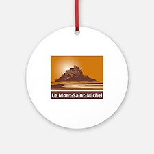 Mont Saint-Michel, France Round Ornament