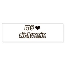 my Heart Lithuania Bumper Bumper Sticker