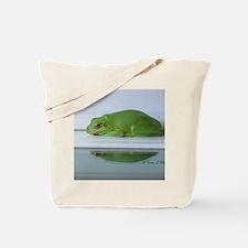 Barking Frog's Reflection Tote Bag