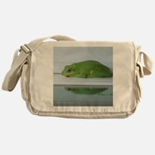 Barking Frog's Reflection Messenger Bag