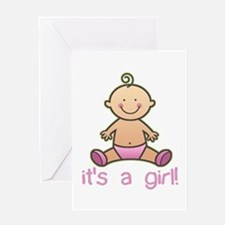New Baby Girl Cartoon Greeting Cards