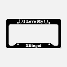 I Love My Xilingol Horse License Plate Holder